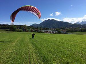 brevet parapente suisse gonflage