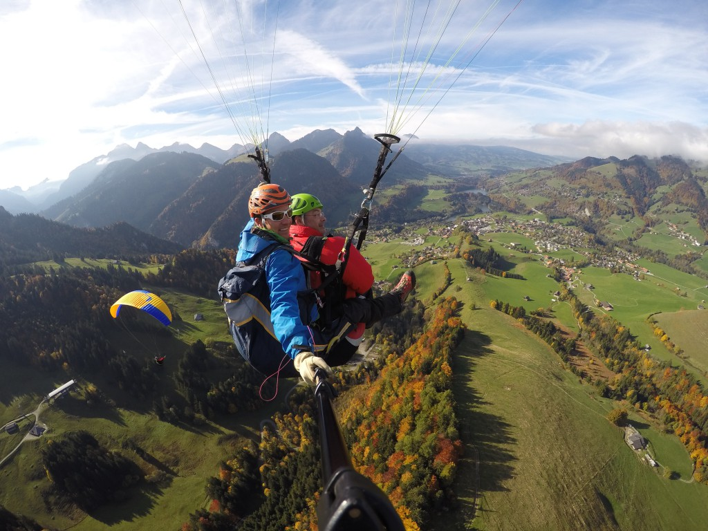 Tandem parapente canton de Fribourg