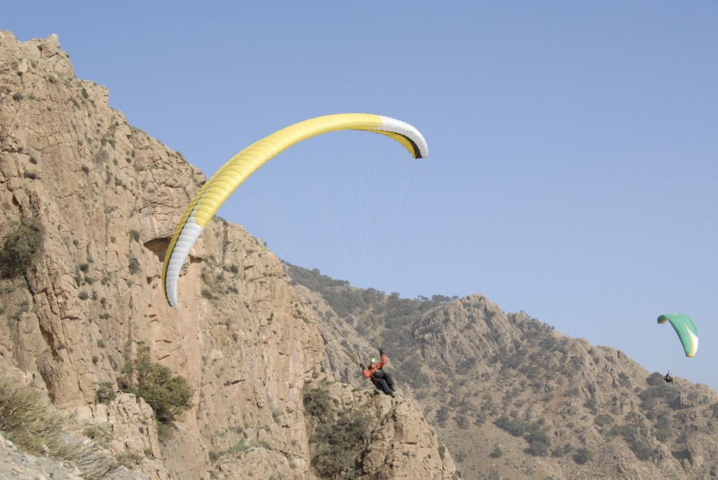 Initiation parapente entre ami